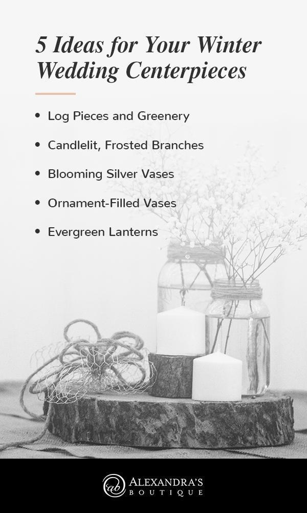 ideas for winter wedding centerpieces