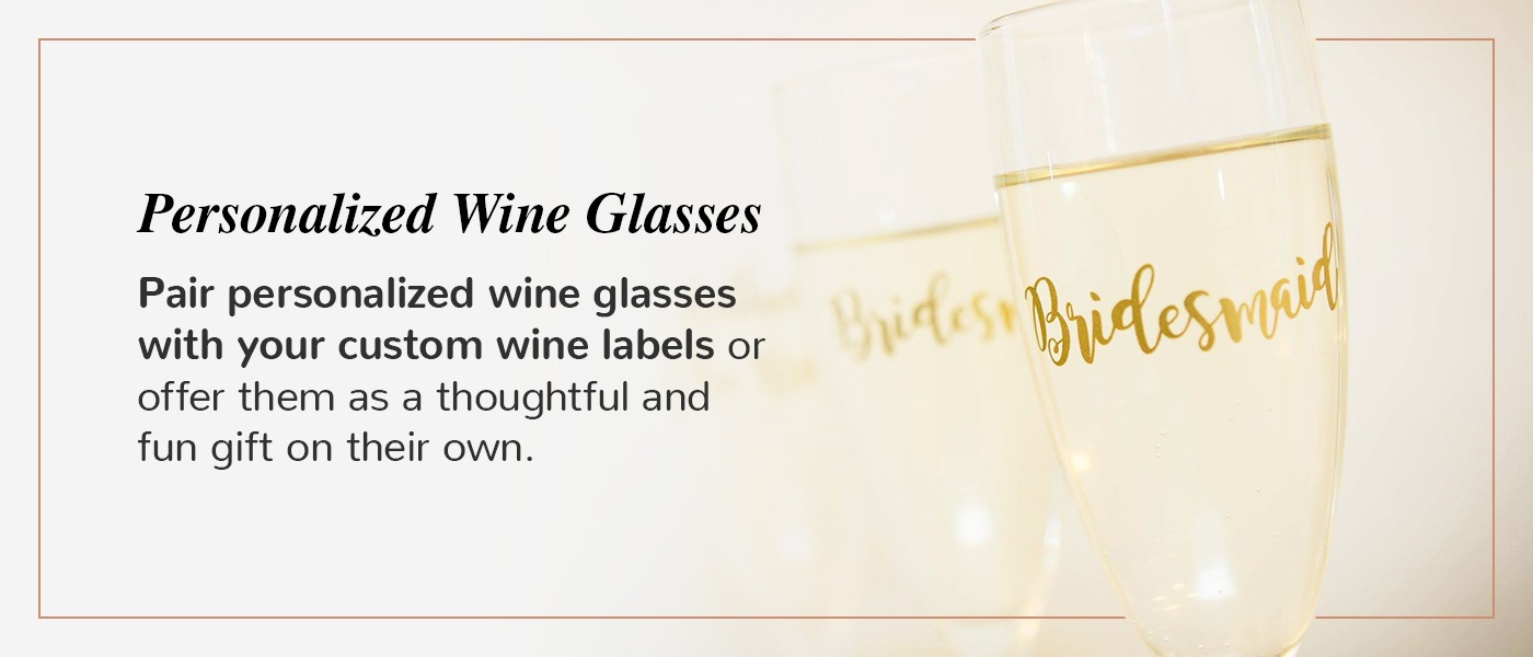 bridesmaid wine glass idea