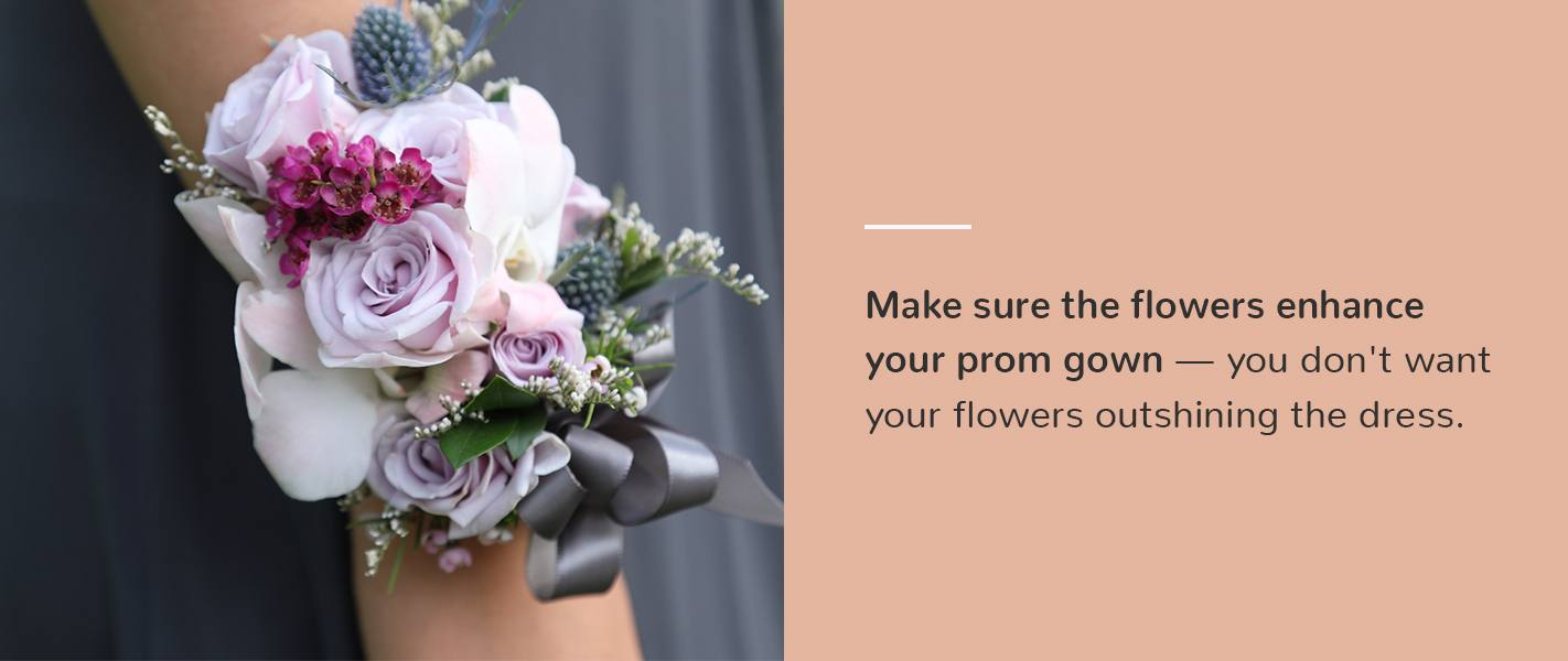 how to match prom flowers to dress